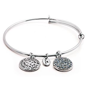 Chrysalis Rhodium plated December Swarovski crystal bangle - Product number 5156483