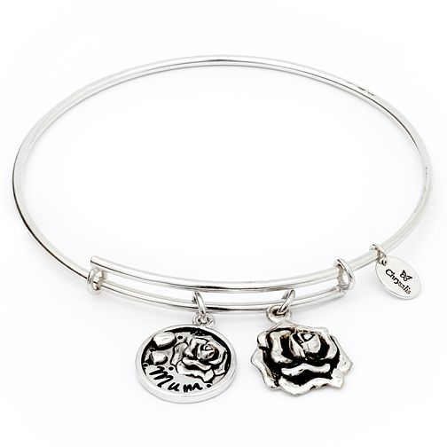 Chrysalis Rhodium plated Mum Charm Bangle - Product number 5156548