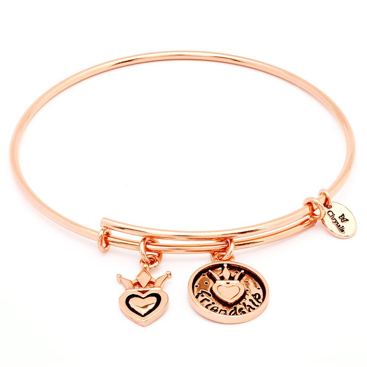 Chrysalis Rose Gold plated Friendship Charm Bangle - Product number 5156564
