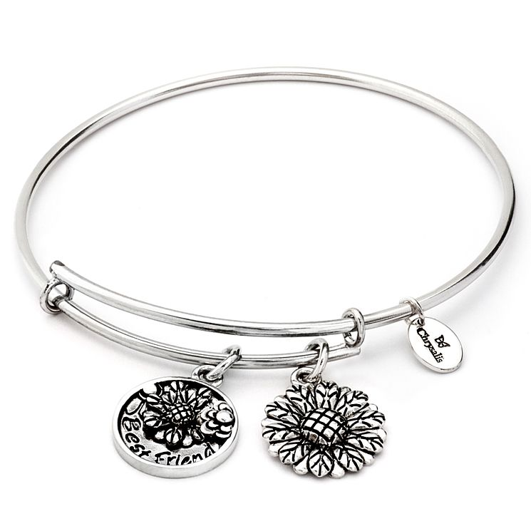 Chrysalis Rhodium plated Best Friend bangle - Product number 5156580