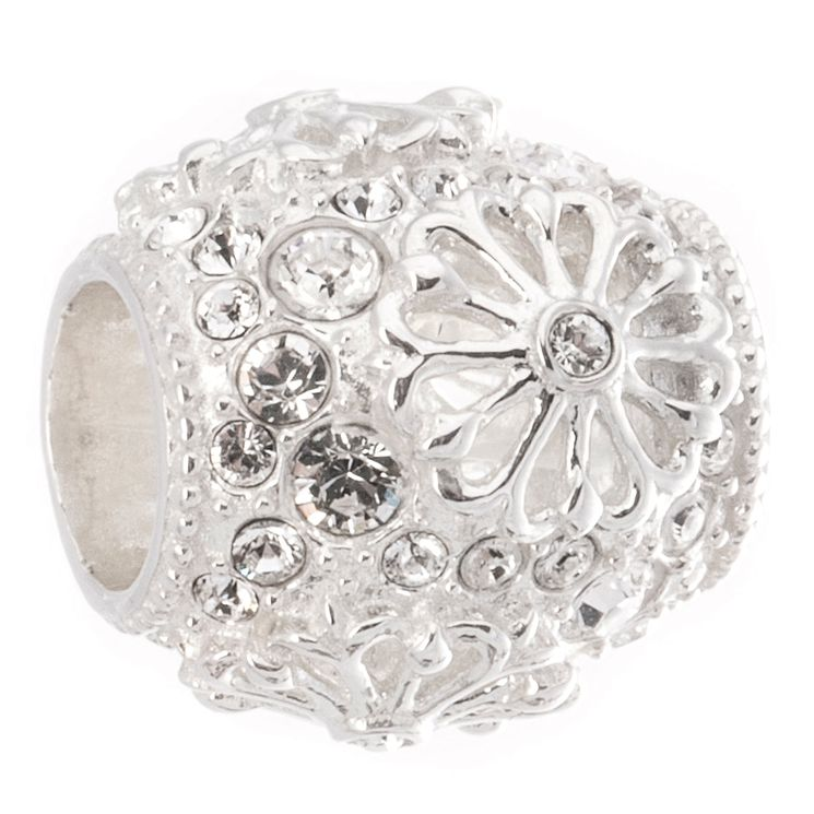Chamilia Sterling Silver Clear Winter Floral Bead - Product number 5156750