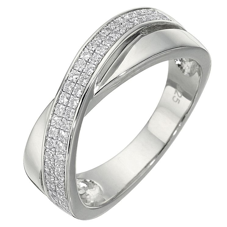 Sterling Silver Cubic Zirconia Ring Size K - Product number 5158370