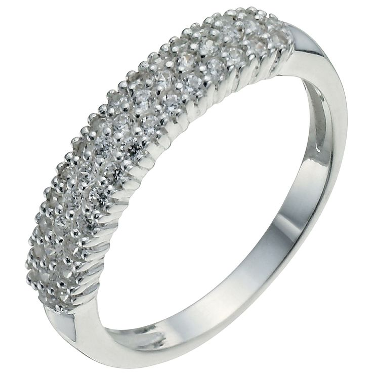 Sterling Silver & Cubic Zirconia Band Ring Size M - Product number 5158605