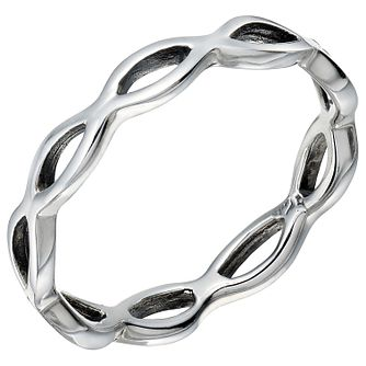 Sterling Silver Open Wave Ring Size K - Product number 5158702