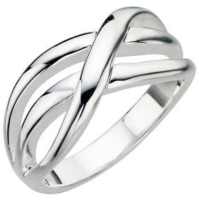 Sterling Silver Weave Ring Size O - Product number 5159024