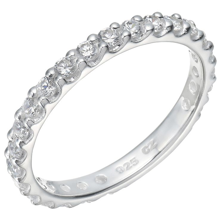 Sterling Silver Cubic Zirconia Claw Set Ring Size N - Product number 5159385