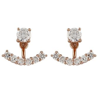 Buckley London Rose Gold-Plated Cubic Zirconia Ear Jackets - Product number 5163226