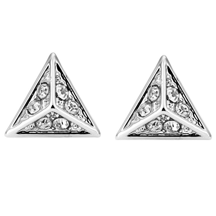 Buckley London Hoxton Crystal Triangle Studs - Product number 5163862