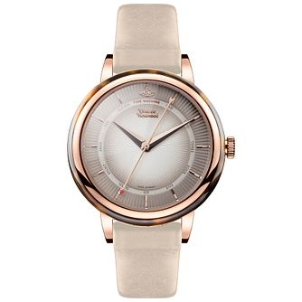 Vivienne Westwood Ladies'  Rose Gold Plated Strap Watch - Product number 5167868