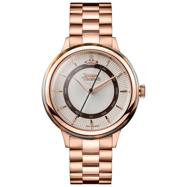 Vivienne Westwood Ladies'  Rose Gold Plated Bracelet Watch - Product number 5167884