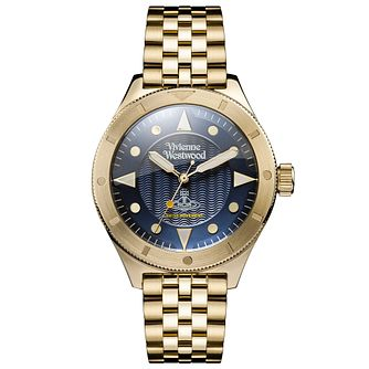 Vivienne Westwood Men's Gold Plated Bracelet Watch - Product number 5168295