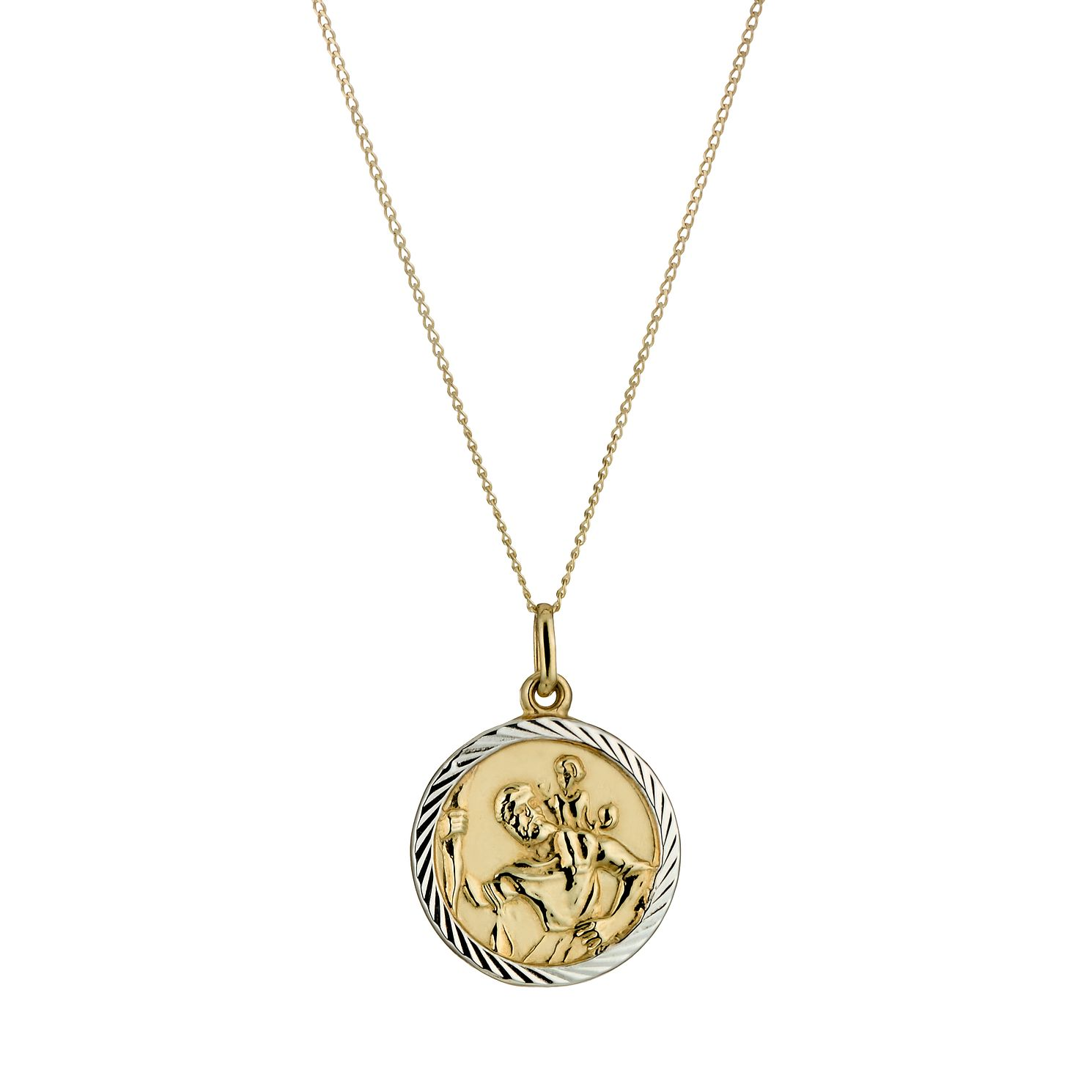 9ct gold st christopher pendant hmuel 9ct gold st christopher pendant product number 5168619 aloadofball Gallery