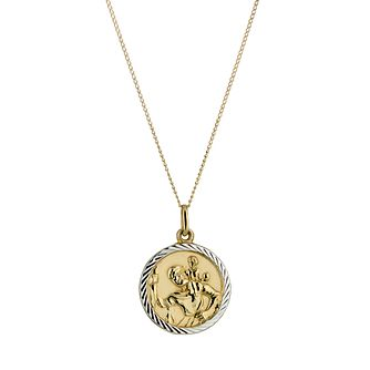 Necklaces hmuel 9ct gold st christopher pendant product number 5168619 aloadofball Choice Image