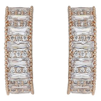 Mikey Gold Tone Baguette Cubic Zirconia Hoop Earrings - Product number 5170532