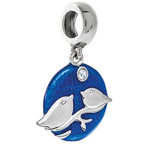 Chamilia Sterling Silver & Blue Enamel Snowbirds Charm - Product number 5177642
