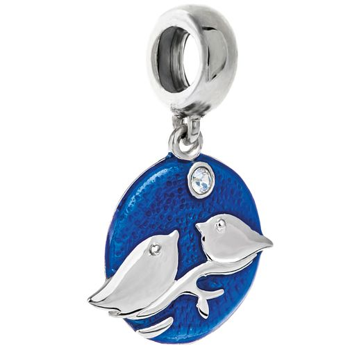 Chamilia Sterling Silver & Blue Enamel Snowbirds Charm Bead - Product number 5177642