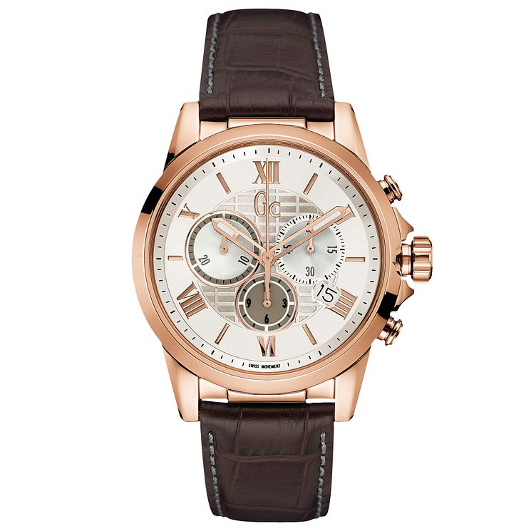 Gc Esquire Men's Rose Gold Plated Bracelet Watch - Product number 5177774