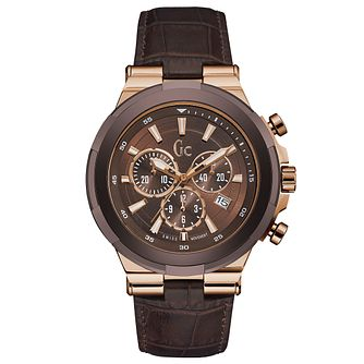 Gc Structura Men's Rose Gold Plated Strap Watch - Product number 5177839