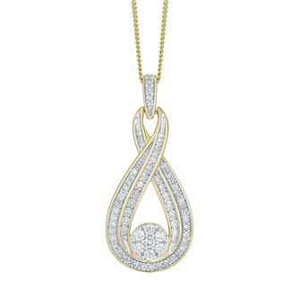 9ct Yellow Gold 0.50ct Diamond Pendant - Product number 5180139