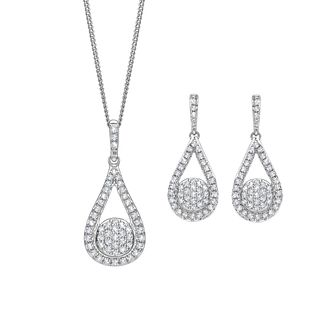 9ct White Gold 0.50ct Diamond Jewellery Set - Product number 5180147