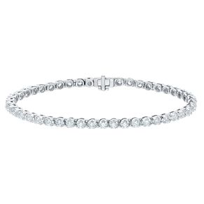 18ct White Gold 3ct Certified Diamond Bracelet - Product number 5180422
