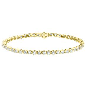 18ct Yellow Gold 3ct Certified Diamond Bracelet - Product number 5180430