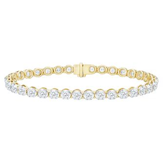 18ct Yellow Gold 5ct Certified Diamond Bracelet - Product number 5180457