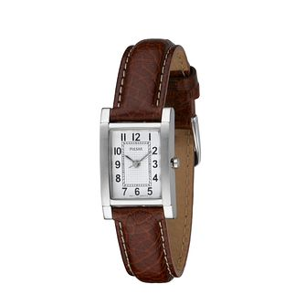 Pulsar Ladies' Brown Leather Strap Watch - Product number 5180953