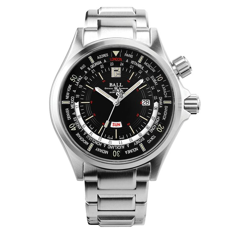 Ball Engineer Master II Diver Worldtime Men's Bracelet Watch - Product number 5187702