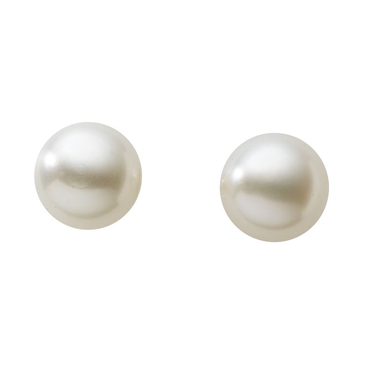 9ct gold 7.5mm cultured freshwater pearl earrings - Product number 5192013