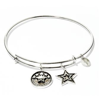 Chyrsalis Rhodium plated Goddaughter Bangle - Product number 5192218