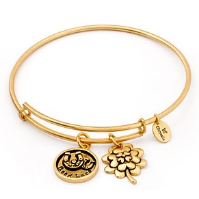 Chrysalis yellow gold plated Good Luck bangle - Product number 5192331