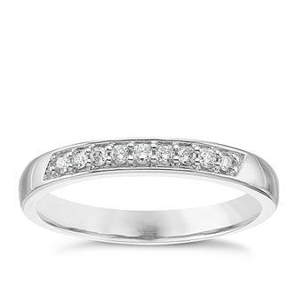 18ct White Gold 011 Diamond Set Ladies Band Ring