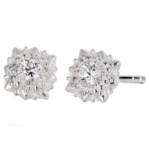 Chamilia Heirloom Lace Filigree Star Silver Stud Earrings - Product number 5196531