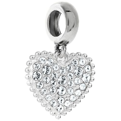 Chamilia Sterling Silver With Love April Heart Charm - Product number 5197120