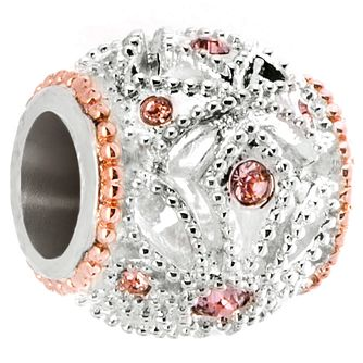 Chamilia Rose Gold Electroplated Appliqué Bead - Product number 5197295