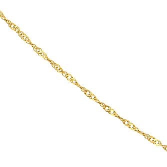 "9ct Gold 18"" Singapore Chain - Product number 5200601"