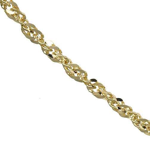 9ct Yellow Gold Singapore Necklace - Product number 5200628