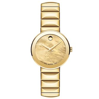 Movado Sapphire Ladies' Gold Tone Bracelet Watch - Product number 5204801