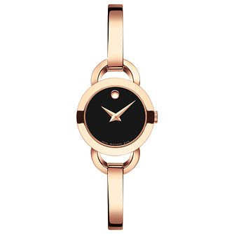 Movado Rondiro Ladies' Rose Gold Tone Bangle Watch - Product number 5205115