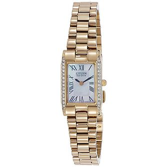 Citizen Eco-Drive Ladies' Gold-Plated Bracelet Watch - Product number 5210208