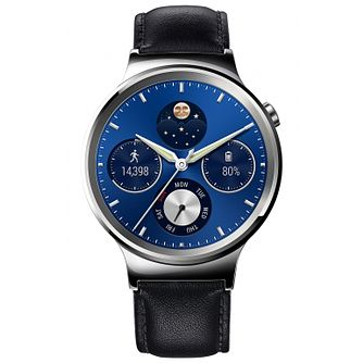 Huawei Unisex W1 Classic Black Leather Smartwatch - Product number 5210364