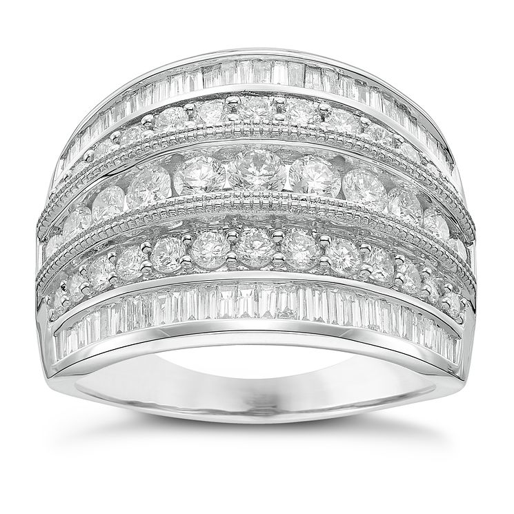 18ct White Gold 1.50ct Diamond Band - Product number 5210763