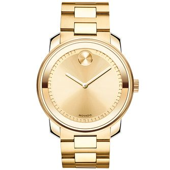 Movado Bold Men's Gold Tone Bracelet Watch - Product number 5212340