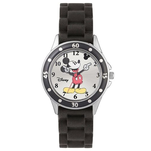 Disney Children's Movin' Hands Mickey Black Strap Watch - Product number 5214858