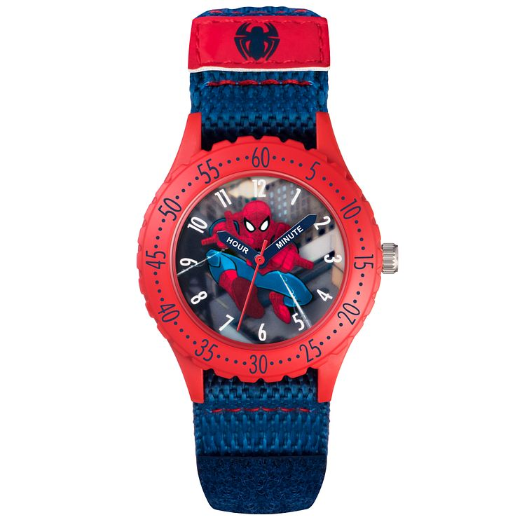 Children's Spiderman Blue & Red Velcro Strap Watch - Product number 5214947