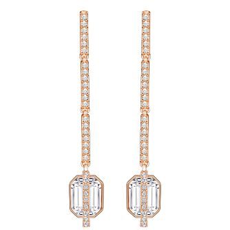 Swarovski Favor Rose Gold Plated Crystal Drop Earrings - Product number 5216575