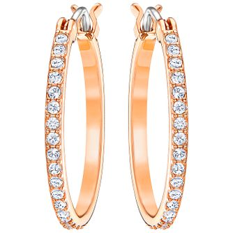 Swarovski Fine Rose Gold Plated Hoop Earrings - Product number 5216621