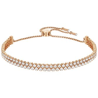 Swarovski Subtle Gold Tone Crystal Set Bracelet - Product number 5217075