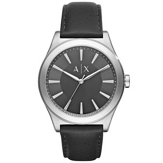 Armani Exchange Men's Black Leather Strap Watch - Product number 5218500